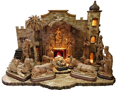 This Breathtaking Nativity Scene Is Made In The Facouseh Carving On Manger Street Bethlehem Within Walking Distance Of Site Where Christ Our
